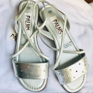 NWT Sandals nice and new! Silver Color Size 7.5
